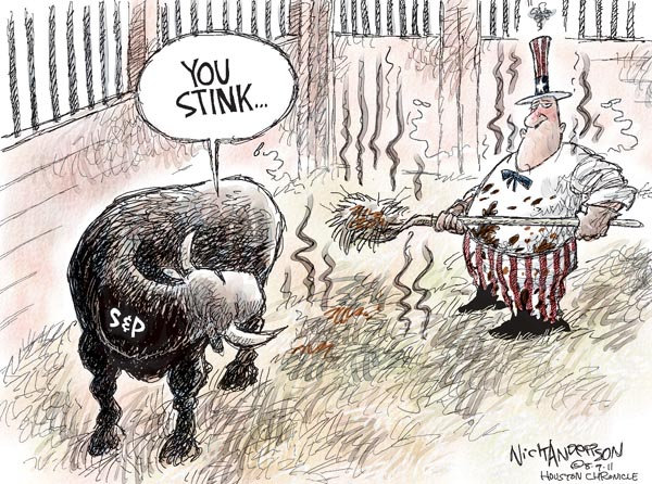 Cartoonist Nick Anderson  Nick Anderson's Editorial Cartoons 2011-08-09 federal debt