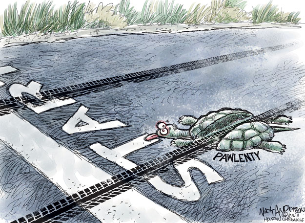 Cartoonist Nick Anderson  Nick Anderson's Editorial Cartoons 2011-08-16 presidential candidate