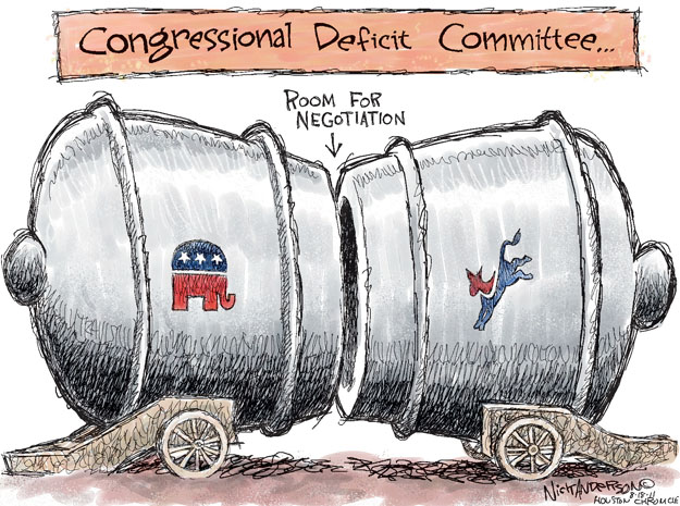 Cartoonist Nick Anderson  Nick Anderson's Editorial Cartoons 2011-08-18 congressional committee