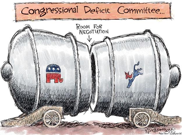 Cartoonist Nick Anderson  Nick Anderson's Editorial Cartoons 2011-08-18 federal debt