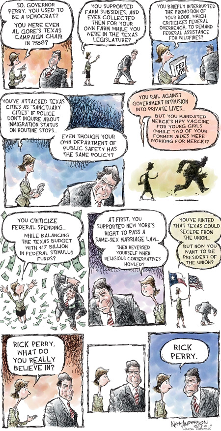 Cartoonist Nick Anderson  Nick Anderson's Editorial Cartoons 2011-08-21 flip-flop