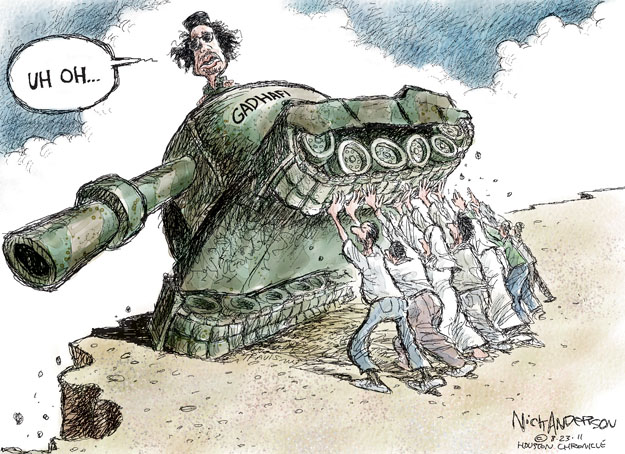 Cartoonist Nick Anderson  Nick Anderson's Editorial Cartoons 2011-08-23 tank
