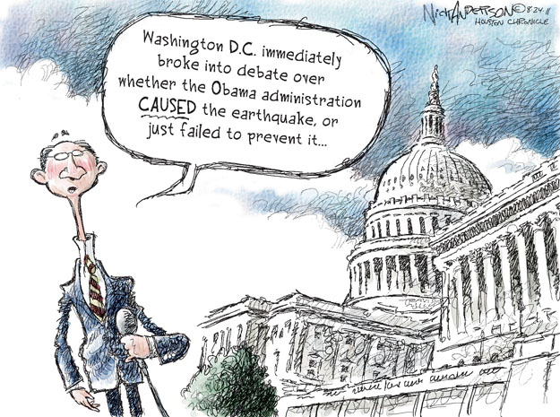 Cartoonist Nick Anderson  Nick Anderson's Editorial Cartoons 2011-08-24 disaster