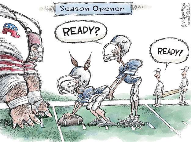 Nick Anderson  Nick Anderson's Editorial Cartoons 2011-09-04 game