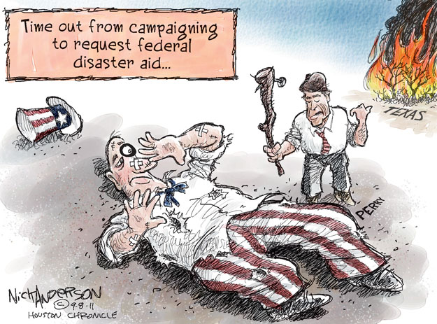 Cartoonist Nick Anderson  Nick Anderson's Editorial Cartoons 2011-09-08 natural disaster