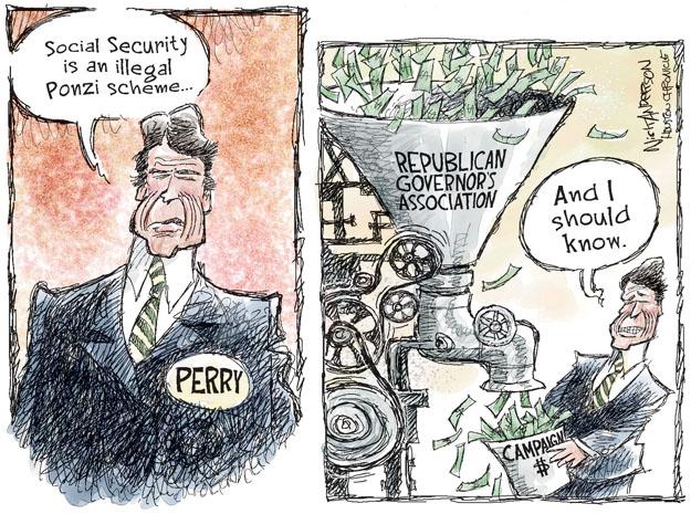 Cartoonist Nick Anderson  Nick Anderson's Editorial Cartoons 2011-09-10 social security