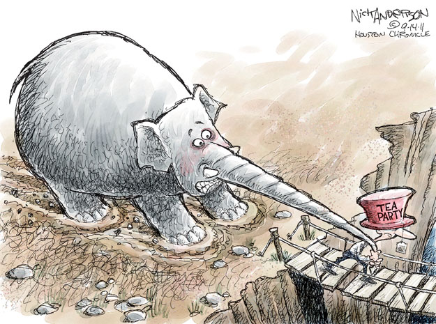 Cartoonist Nick Anderson  Nick Anderson's Editorial Cartoons 2011-09-14 tea party
