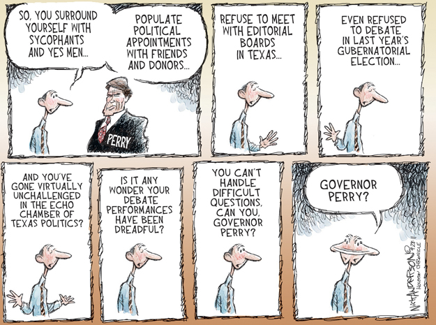 Cartoonist Nick Anderson  Nick Anderson's Editorial Cartoons 2011-09-28 presidential candidate