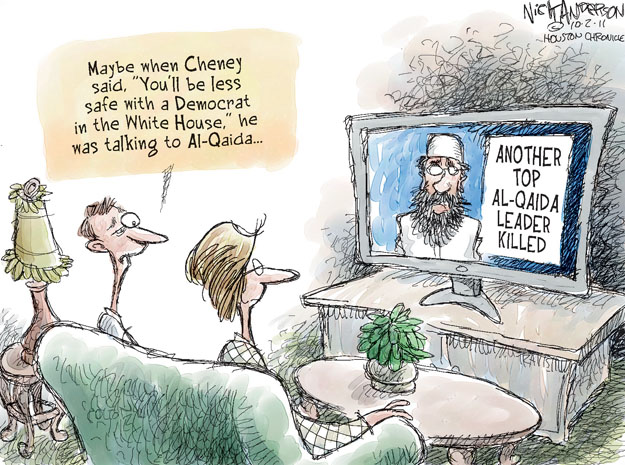Cartoonist Nick Anderson  Nick Anderson's Editorial Cartoons 2011-10-02 Al Qaeda