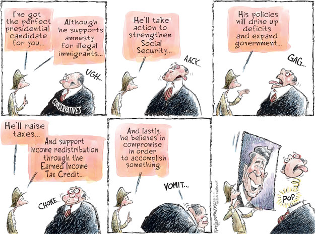 Cartoonist Nick Anderson  Nick Anderson's Editorial Cartoons 2011-10-11 compromise