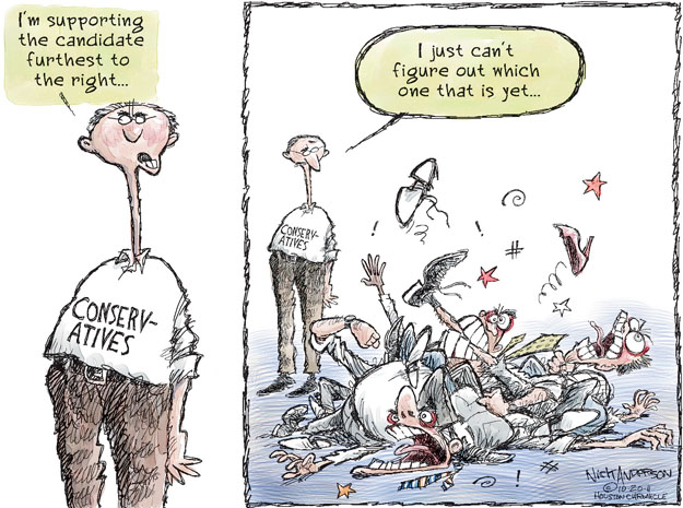 Cartoonist Nick Anderson  Nick Anderson's Editorial Cartoons 2011-10-20 Republican voter