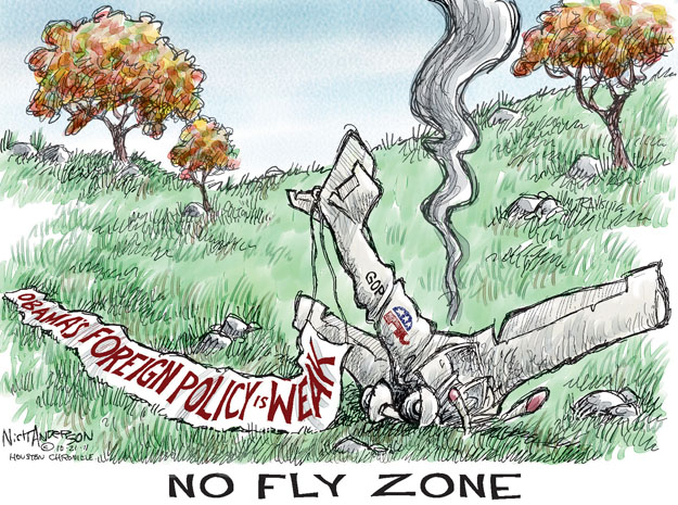 No Fly Zone. Obamas Foreign Policy is Weak. GOP.