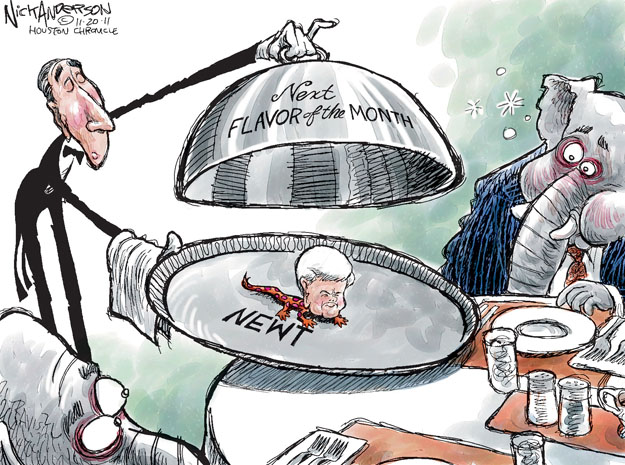 Cartoonist Nick Anderson  Nick Anderson's Editorial Cartoons 2011-11-20 presidential candidate