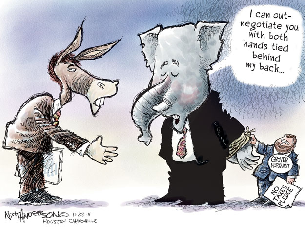 Nick Anderson  Nick Anderson's Editorial Cartoons 2011-11-22 tax pledge