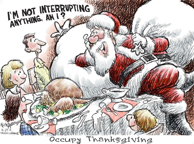 Cartoonist Nick Anderson  Nick Anderson's Editorial Cartoons 2011-11-24 Christmas