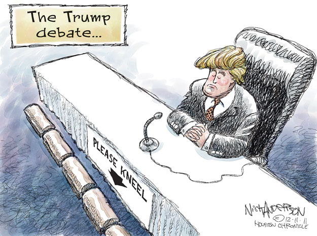 Cartoonist Nick Anderson  Nick Anderson's Editorial Cartoons 2011-12-11 2012 debate