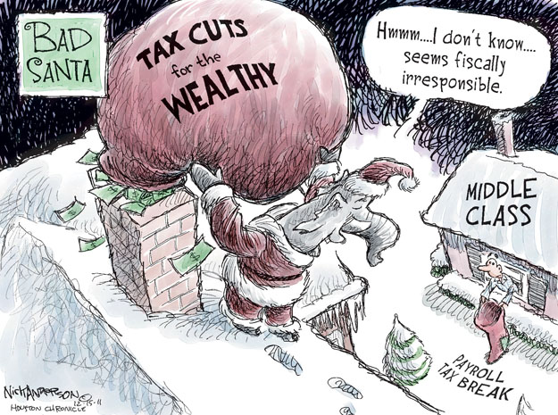 Cartoonist Nick Anderson  Nick Anderson's Editorial Cartoons 2011-12-15 Christmas