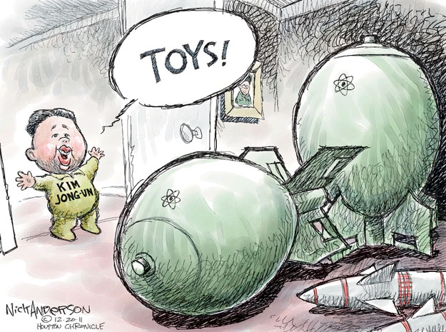 Cartoonist Nick Anderson  Nick Anderson's Editorial Cartoons 2011-12-20 nuclear weapon