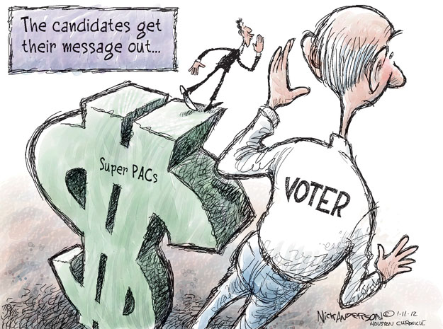 Cartoonist Nick Anderson  Nick Anderson's Editorial Cartoons 2012-01-11 Republican voter