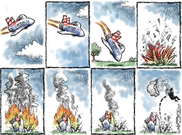 Cartoonist Nick Anderson  Nick Anderson's Editorial Cartoons 2012-01-20 presidential candidate