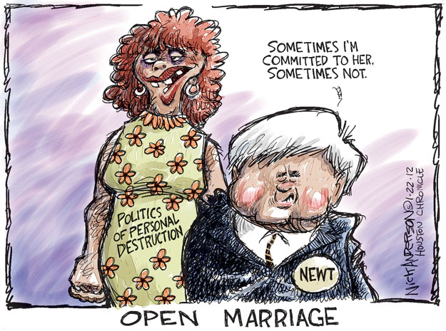 Cartoonist Nick Anderson  Nick Anderson's Editorial Cartoons 2012-01-22 presidential candidate