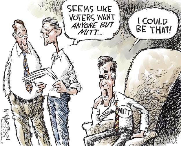 Cartoonist Nick Anderson  Nick Anderson's Editorial Cartoons 2012-02-09 Republican voter