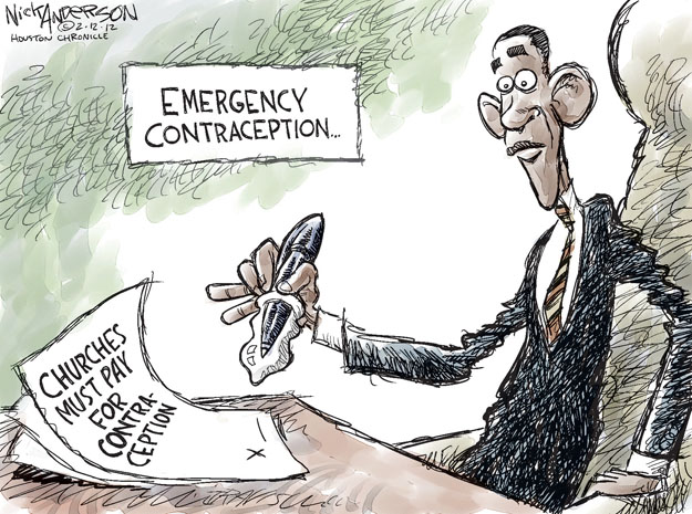 Cartoonist Nick Anderson  Nick Anderson's Editorial Cartoons 2012-02-12 contraceptive