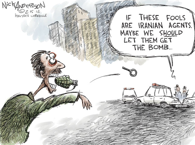 Cartoonist Nick Anderson  Nick Anderson's Editorial Cartoons 2012-02-15 nuclear weapon