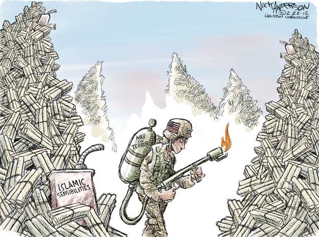 Cartoonist Nick Anderson  Nick Anderson's Editorial Cartoons 2012-02-22 torch