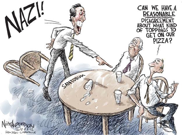 Cartoonist Nick Anderson  Nick Anderson's Editorial Cartoons 2012-02-23 argument