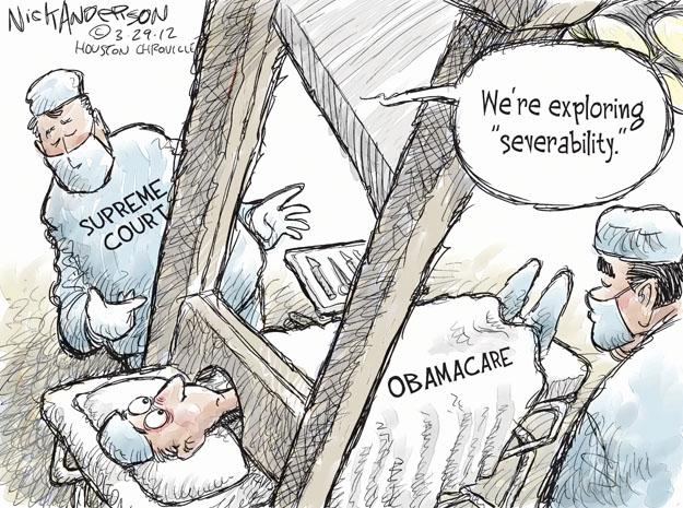 Cartoonist Nick Anderson  Nick Anderson's Editorial Cartoons 2012-03-29 health care