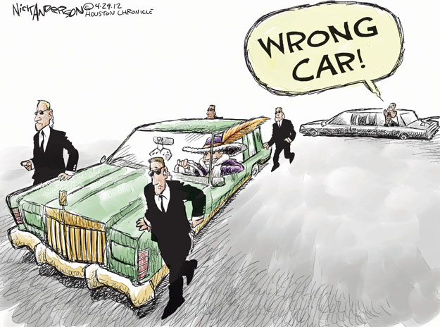 Cartoonist Nick Anderson  Nick Anderson's Editorial Cartoons 2012-04-29 automobile