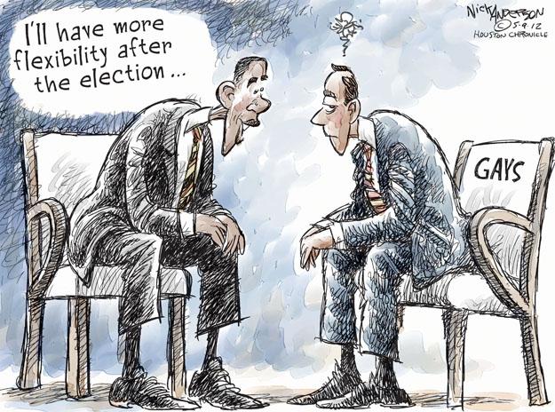 Nick Anderson  Nick Anderson's Editorial Cartoons 2012-05-09 gay marriage