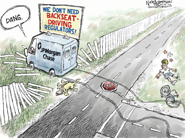Dang. We dont need backseat driving regulators! JPMorgan Chase. Stop.