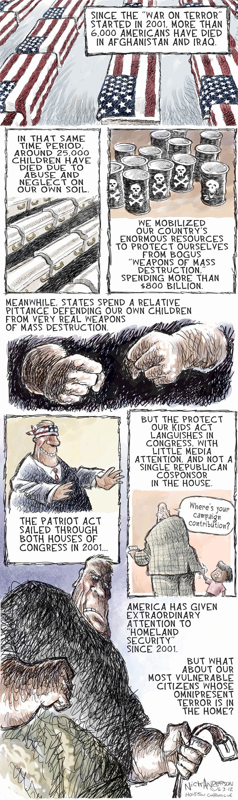 Cartoonist Nick Anderson  Nick Anderson's Editorial Cartoons 2012-06-03 child abuse