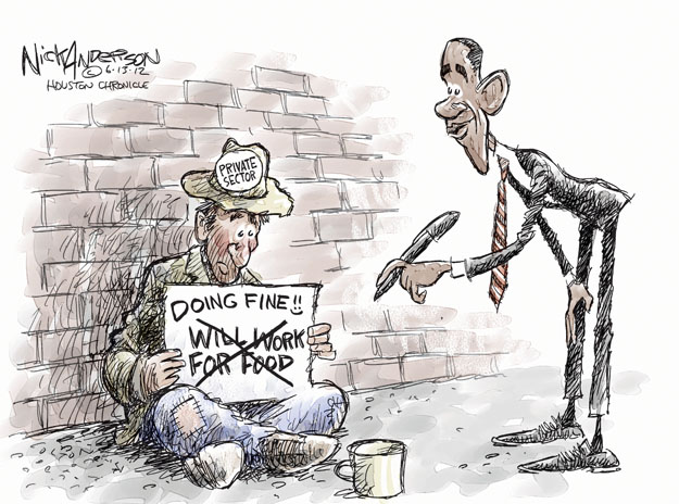Cartoonist Nick Anderson  Nick Anderson's Editorial Cartoons 2012-06-13 unemployment