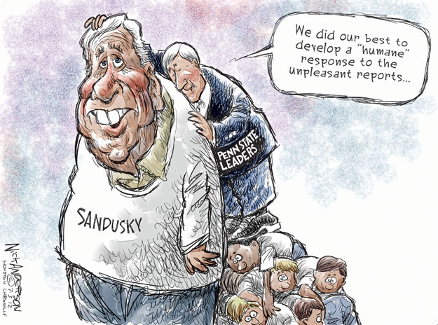 Cartoonist Nick Anderson  Nick Anderson's Editorial Cartoons 2012-07-03 child abuse