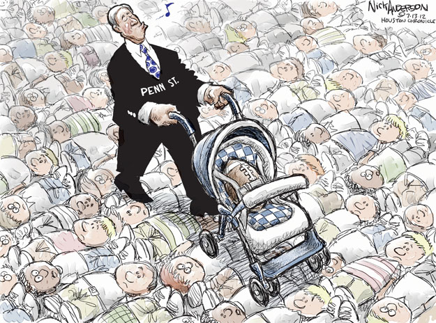 Cartoonist Nick Anderson  Nick Anderson's Editorial Cartoons 2012-07-13 child abuse