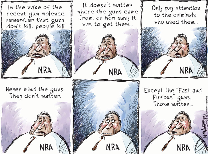 Nick Anderson  Nick Anderson's Editorial Cartoons 2012-07-22 theater shooting