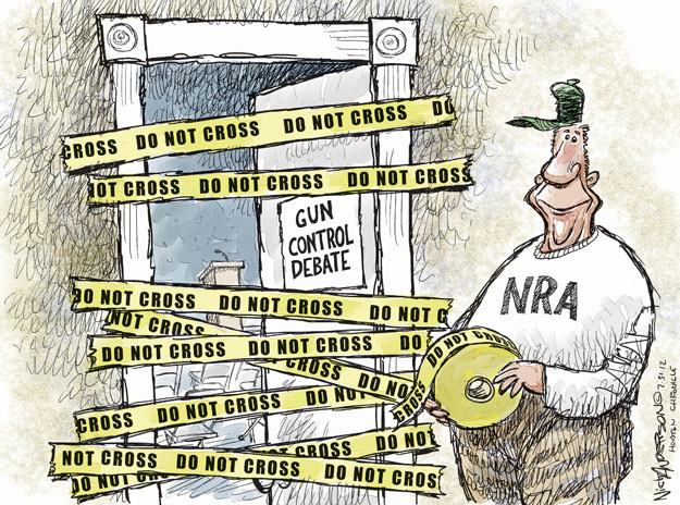 Cartoonist Nick Anderson  Nick Anderson's Editorial Cartoons 2012-07-31 NRA