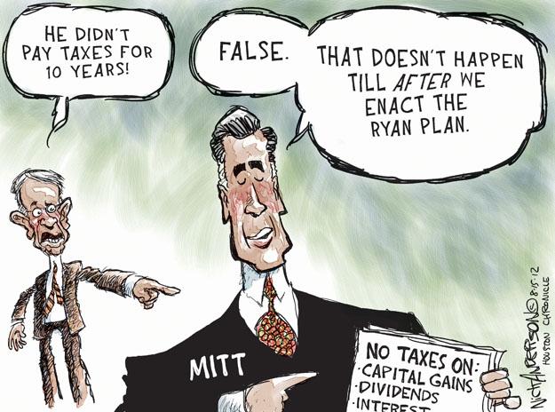 Cartoonist Nick Anderson  Nick Anderson's Editorial Cartoons 2012-08-15 republican politician