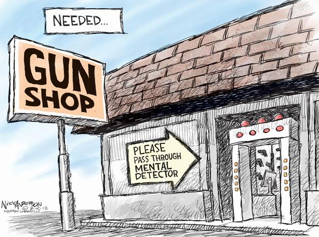 Cartoonist Nick Anderson  Nick Anderson's Editorial Cartoons 2012-08-15 gun control