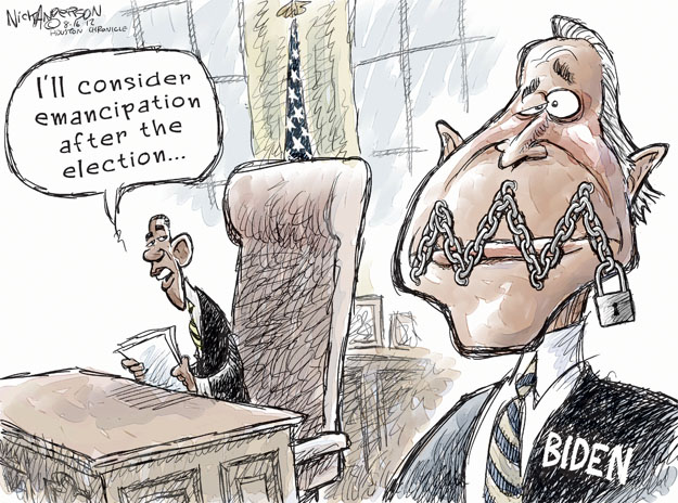 Ill consider emancipation after the election … Biden.
