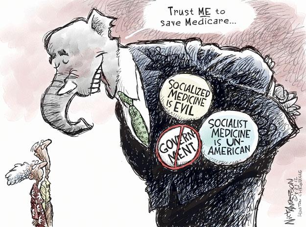 Cartoonist Nick Anderson  Nick Anderson's Editorial Cartoons 2012-08-23 republican politician