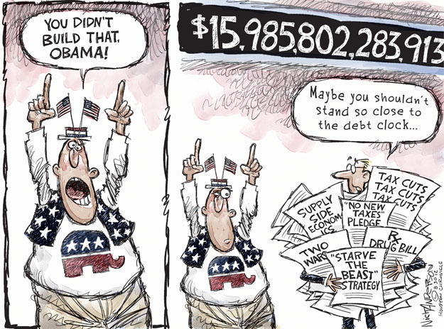 Cartoonist Nick Anderson  Nick Anderson's Editorial Cartoons 2012-08-30 government debt