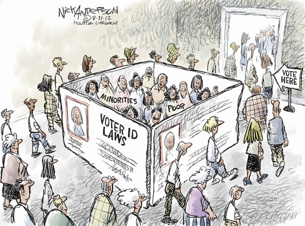 Nick Anderson  Nick Anderson's Editorial Cartoons 2012-08-31 voter identification