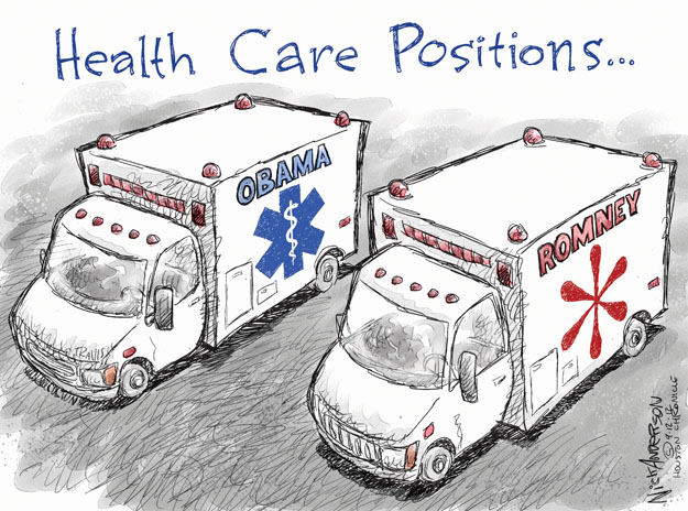 Cartoonist Nick Anderson  Nick Anderson's Editorial Cartoons 2012-09-12 health care policy