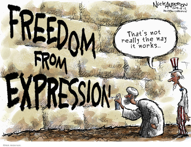 Nick Anderson  Nick Anderson's Editorial Cartoons 2012-09-18 freedom of expression