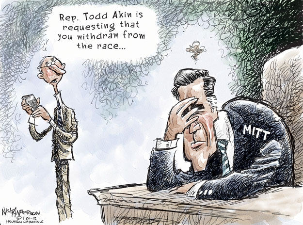 Rep. Todd Akin is requesting that you withdraw from the race … Mitt.