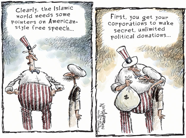 Cartoonist Nick Anderson  Nick Anderson's Editorial Cartoons 2012-09-28 freedom